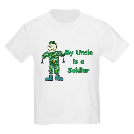 My Uncle is a Soldier Kids Light T-Shirt