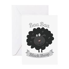 Baa Black Sheep Greeting Cards