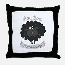 Baa Black Sheep Throw Pillow