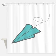 Paper Airplane Shower Curtain