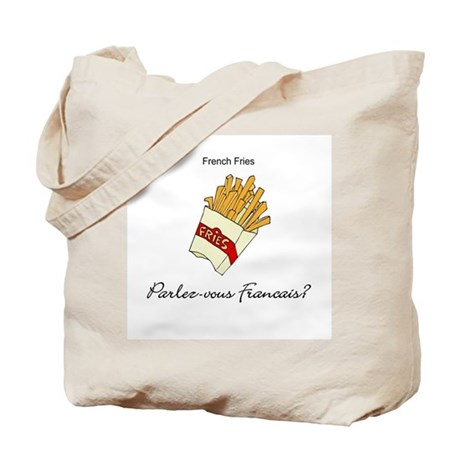 French Fries French Language Tote Bag
