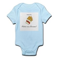 French Fries French Language Infant Bodysuit