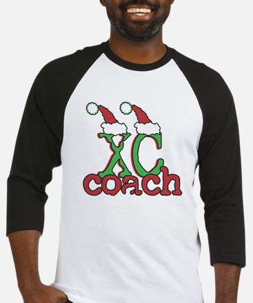 XC Holiday Cross Country Coach Baseball Jersey