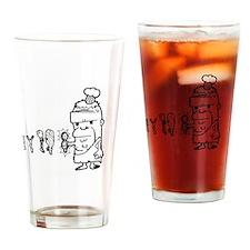 Chef Caveman Drinking Glass
