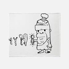 Chef Caveman Throw Blanket