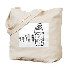 Chef Caveman Tote Bag