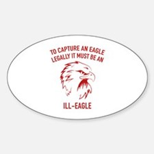 Ill-Eagle Sticker (Oval)
