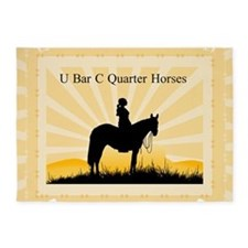 Custom Ranch Cowgirl 5'x7'Area Rug