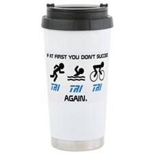 Cute Triathalon Travel Mug