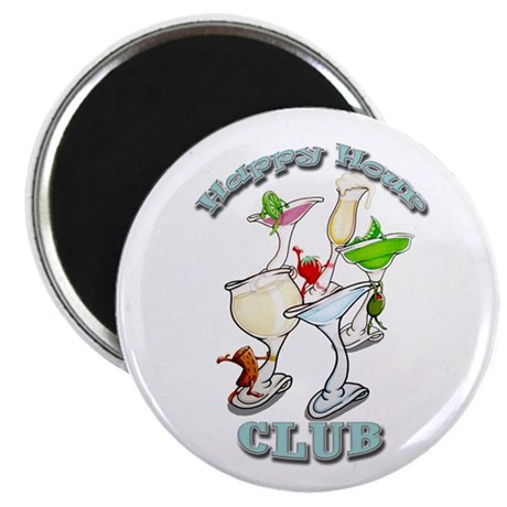 "Happy Hour Club 2.25"" Magnet (10 pack)"
