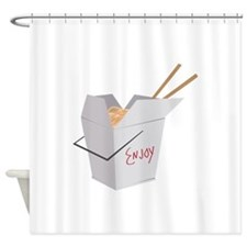 Chinese Food Shower Curtain