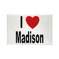 I Love Madison Rectangle Magnet