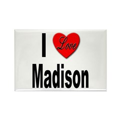 I Love Madison Rectangle Magnet