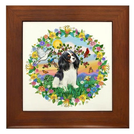 Wreath - Cavalier (Tri) Framed Tile