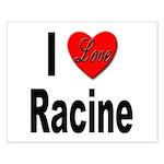 I Love Racine Small Poster