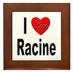 I Love Racine Framed Tile