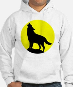 Wolf Howling at the Moon Hoodie