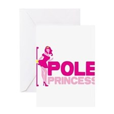 POLE PRINCESS with sexy lady and po Greeting Cards