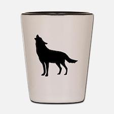 Howling Wolf Shot Glass