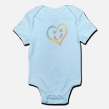 Baby Hands and Feet in Heart Body Suit