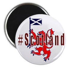 Hashtag Scotland red tartan Magnets