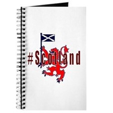 Hashtag Scotland Red Tartan Journal