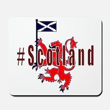 Hashtag Scotland red tartan Mousepad