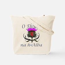 Hashtag Scotland Red Tartan Tote Bag