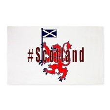 Hashtag Scotland Red Tartan 3'x5' Area Rug