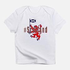 Hashtag Scotland red tartan Infant T-Shirt