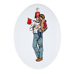 Shriner and Child Oval Ornament