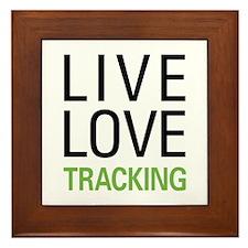 Live Love Tracking Framed Tile