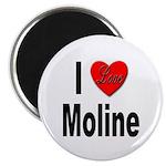 I Love Moline Magnet