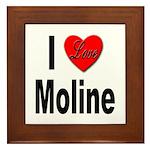 I Love Moline Framed Tile