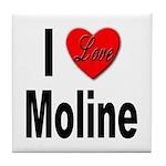 I Love Moline Tile Coaster