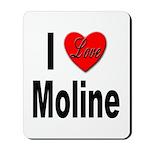 I Love Moline Mousepad