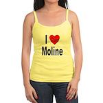 I Love Moline Jr. Spaghetti Tank