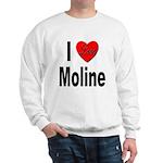 I Love Moline (Front) Sweatshirt