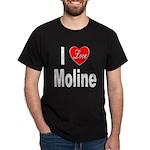 I Love Moline (Front) Dark T-Shirt