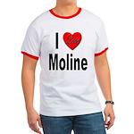 I Love Moline Ringer T
