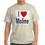 I Love Moline (Front) Light T-Shirt