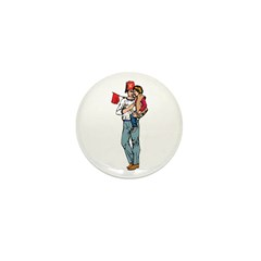 Shriner and Child Mini Button (100 pack)