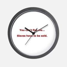 Office Slaves Wall Clock