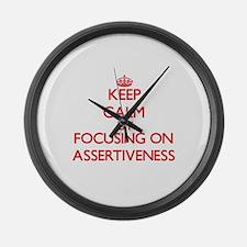 Assertiveness Large Wall Clock
