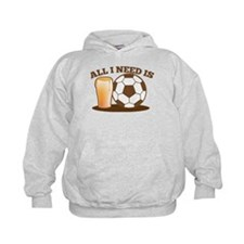 All I need is football and beer Hoodie