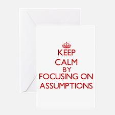 Assumptions Greeting Cards