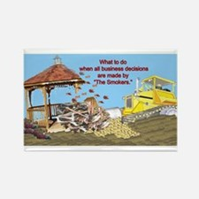 Bulldoze the Smoking Gazebo Rectangle Magnet
