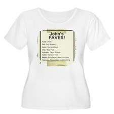 "PLUS SIZE ""John's Faves!"" Scoop Neck T-Shirt"