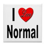 I Love Normal Tile Coaster
