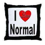 I Love Normal Throw Pillow